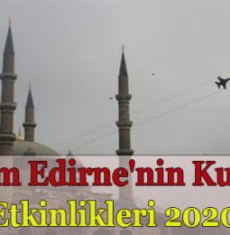 25 Kasım Edirne'nin Kurtuluşu Etkinlikleri 2020