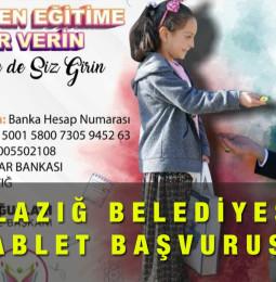 Elazığ Belediyesi Bedava Tablet Başvurusu Yapma