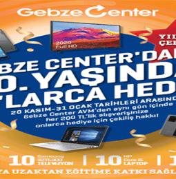 Gebze Center Yılbaşı Tablet Çekiliş Kampanyası 2020/2021