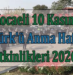 Kocaeli 10 Kasım Atatürk'ü Anma Haftası Etkinlikleri 2020