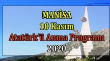 Manisa 10 Kasım Atatürk'ü Anma Günü Programı 2020