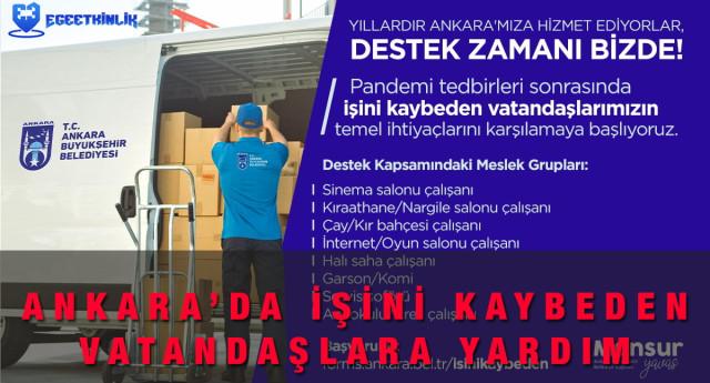 Ankara Büyükşehir Belediyesi İşsizlik Yardım Başvuru Formu