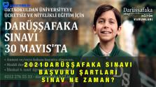 Darüşşafaka Ücretsiz Eğitim Sınavı Başvuru Formu 2021
