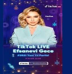 Hadise Yeni Yıl TikTok LİVE Konseri – 31 Aralık 2020