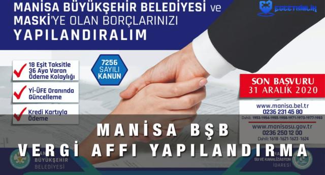 Manisa Büyükşehir Belediyesi Vergi Affı Yapılandırması Başvurusu