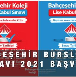 Bahçeşehir Koleji Bursluluk Sınavı 2021 Başvuru Formu