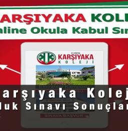 Karşıyaka Koleji Bursluluk Sınavı Sonuçları 2021