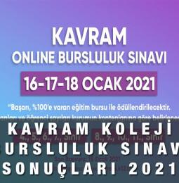 Kavram Koleji Online Bursluluk Sınavı Sonuçları 2021