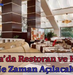 Ankara'da Restoran ve Kafeler Ne Zaman Açılacak? 2021