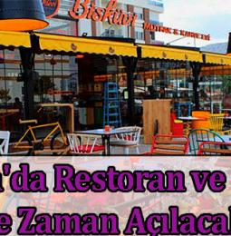 Antalya'da Restoran ve Kafeler Ne Zaman Açılacak? 2021