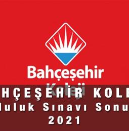 Bahçeşehir Koleji Bursluluk Sınavı Sonuçları 2021