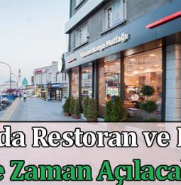 Konya'da Restoran ve Kafeler Ne Zaman Açılacak? 2021