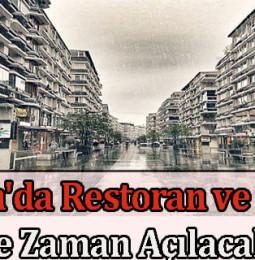Samsun'da Restoran ve Kafeler Ne Zaman Açılacak? 2021