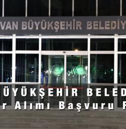 Van Büyükşehir Belediyesi Memur Alımı Başvuru Formu 2021