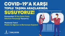 İzmir Toplu Taşıma Araçlarında Susuyoruz Kampanyası 2021