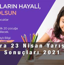 Ankara 23 Nisan Resim Yarışması Sonuçları 2021