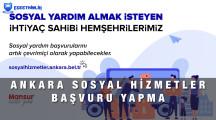 Ankara Sosyal Hizmetler Ön Başvuru Ekranı 2021