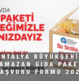 Antalya Ramazan Gıda Paketi Başvuru Talep Formu 2021