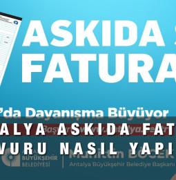 Antalya Askıda Fatura Yardım Kampanyası Başvuru 2021