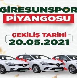 Giresunspor Piyangosu Çekiliş Sonuçları – 20 Mayıs 2021