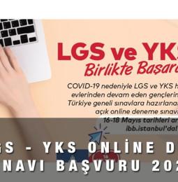 İBB Online LGS ve YKS Deneme Sınavı Kayıt Başvuru Formu 2021