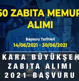 Ankara Büyükşehir Belediyesi 250 Zabıta Alımı Başvuru Formu 2021