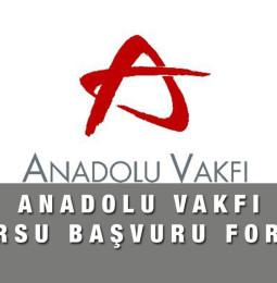 Anadolu Vakfı Burs Başvuru Formu 2021
