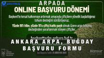 Ankara Arpa Buğday Tohumu Desteği Başvuru Formu 2021