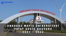 OnDokuz Mayıs Üniversitesi Yatay Geçiş Başvuru Formu 2021 – 2022