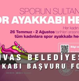 Sivas Belediyesi Spor Ayakkabı Başvuru Formu 2021