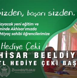 Akhisar Belediyesi 100 TL Hediye Çeki Başvuru Yapma