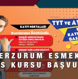 Erzurum ESMEK Ücretsiz YKS Kursu Kayıt Başvuru 2021 – 2022