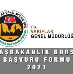 Başbakanlık Bursu Başvuru Formu 2021 – 2022