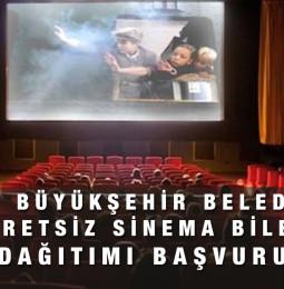 İzmir Büyükşehir Belediyesi Ücretsiz Sinema Bileti Başvuru Kayıt Formu