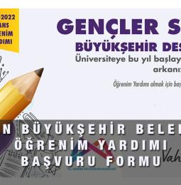Mersin Büyükşehir Belediyesi Öğrenim Yardımı Başvuru Formu 2021