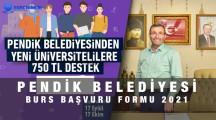 Pendik Belediyesi 750 TL Burs Başvuru Formu 2021