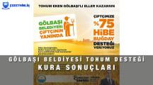 Ankara Gölbaşı Belediyesi Tohum Başvuru Kura Sonuçları