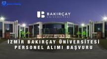 İzmir Bakırçay Üniversitesi Personel Alımı Başvuru Formu 2021