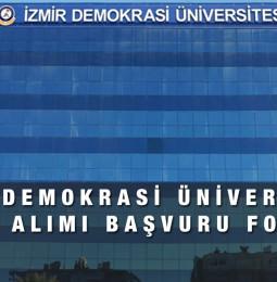 İzmir Demokrasi Üniversitesi İşçi Alımı Başvuru Formu 2021